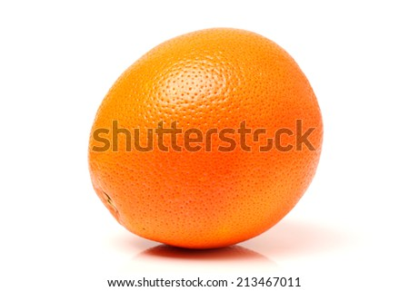 Ripe blood red orange fruits isolated on white background  - stock photo