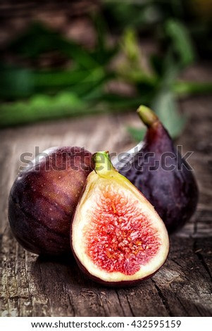 Ripe fig - organic healthy food - stock photo