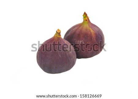 Ripe figs on a white background  - stock photo