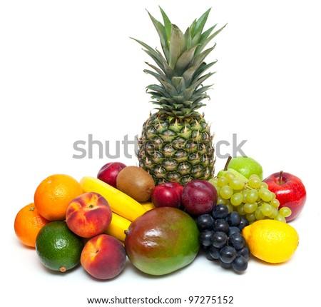 ripe fresh fruit - stock photo