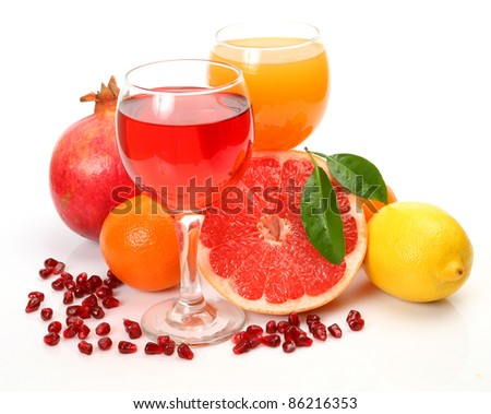 Ripe fruit and juice