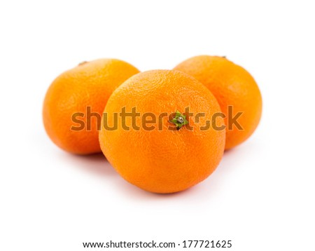 ripe fruit tangerine close-up