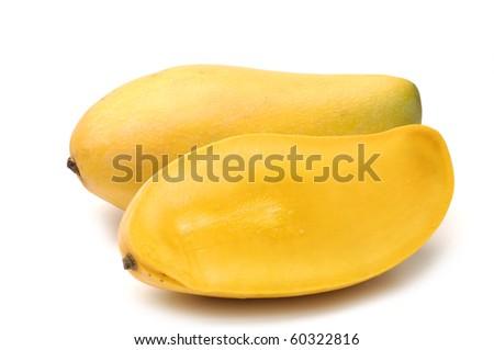 ripe golden mango - stock photo