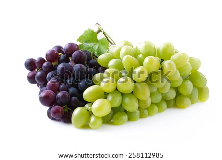 Ripe juicy grapes isolated on a white background. - stock photo