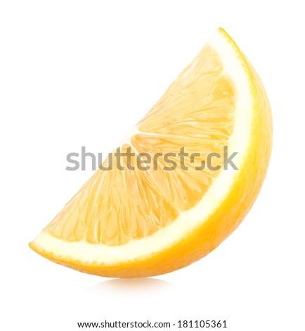 ripe lemon slice - stock photo