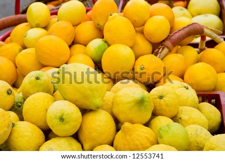 Ripe Lemons - stock photo