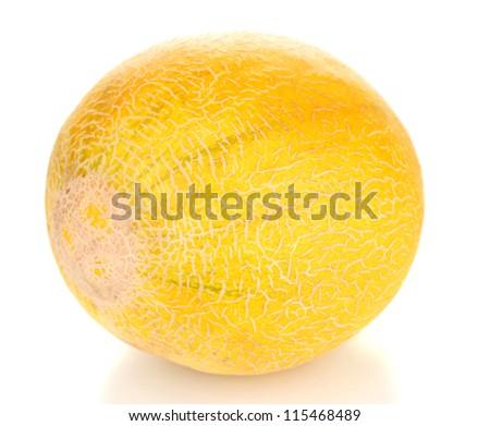 Ripe melon isolated on white - stock photo