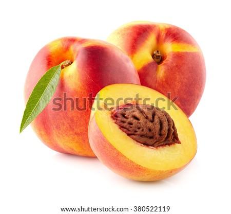 Ripe nectarine - stock photo