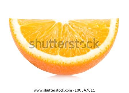 ripe orange slice - stock photo