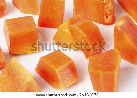 ripe papaya - stock photo