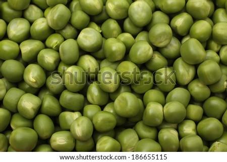 Ripe pea vegetable. background  - stock photo