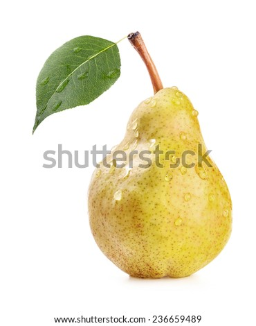 Ripe pear isolated on white background  - stock photo