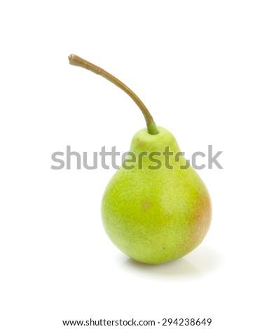 Ripe pear isolated on white background - stock photo