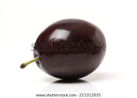 ripe Plums isolated over white background  - stock photo