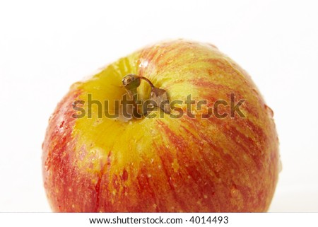 ripe red apple isolated on the white