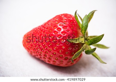 ripe red organic strawberry