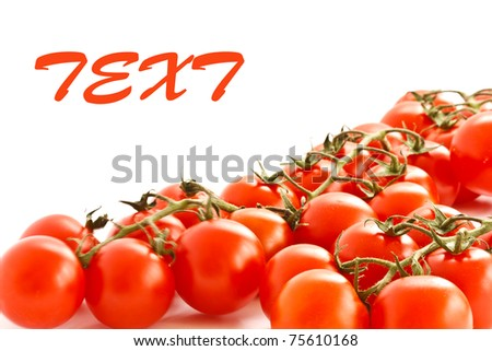 ripe red tomatoes isolated on white background