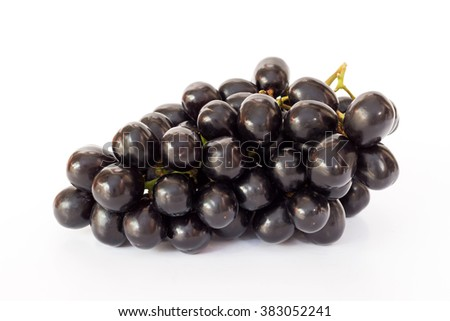 Ripe seedless grapes isolated on white background - stock photo