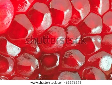 Ripe seeds pomegranate - stock photo
