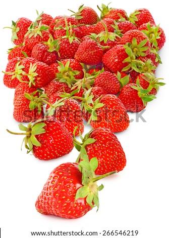ripe strawberries isolate - stock photo