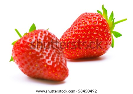 Ripe strawberry isolated on a white background