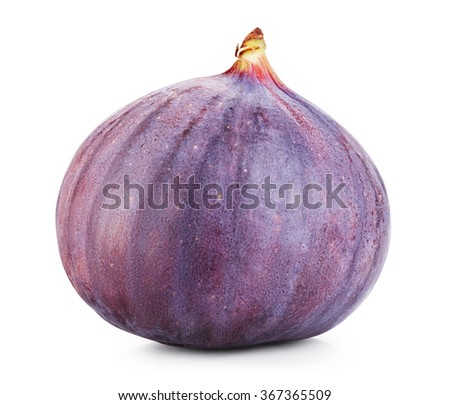 Ripe sweet fig isolated on white. Clipping Path - stock photo