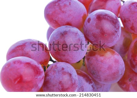 ripe sweet grape fruit on wooden plank table