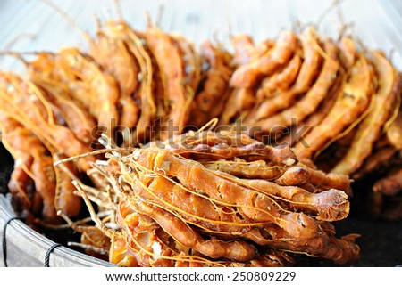 Ripe tamarind fruit - stock photo
