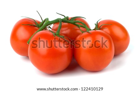 Ripe Tomato isolated on white background - stock photo