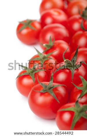 ripe tomatoes background isolated