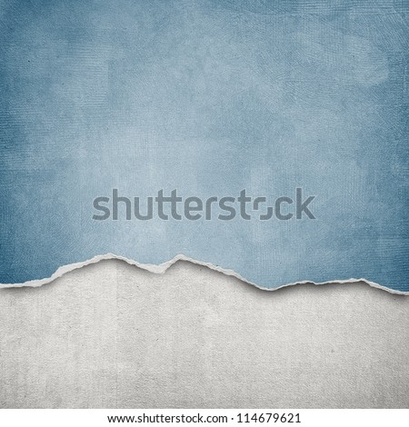 riped vintage paper on grunge background - stock photo