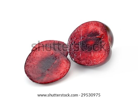 ripen cherries isolated on white background