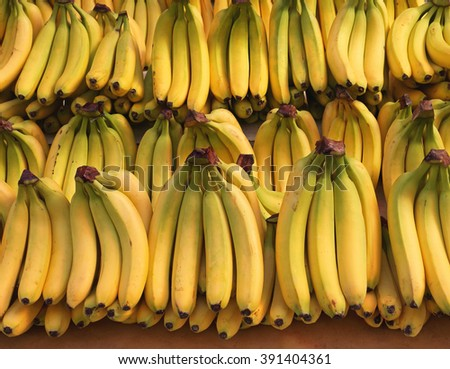 Ripened Bananas at Grocery Store - stock photo