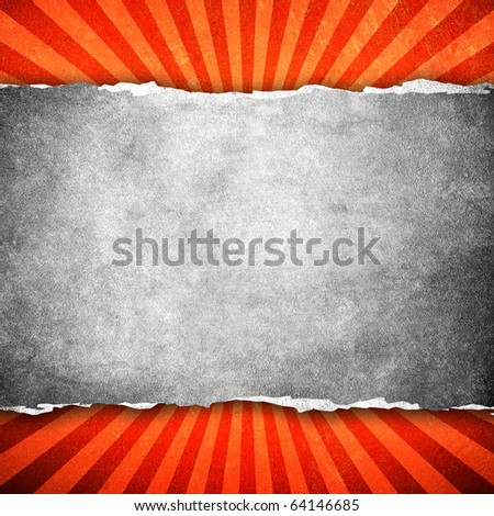 ripped background with stripe pattern - stock photo