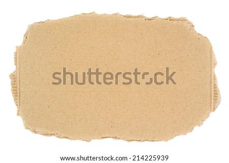 Ripped blank piece of cardboard - stock photo
