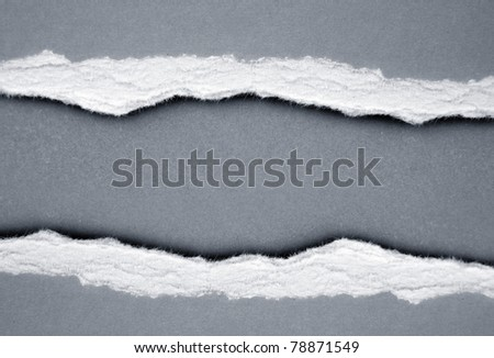 Ripped paper, copy space - stock photo