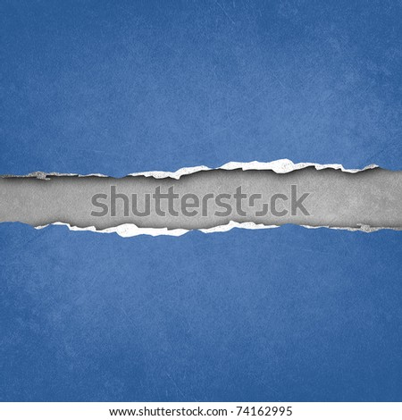 ripped paper design - stock photo