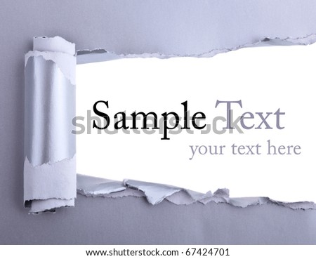 Ripped Paper - Space for own Text - stock photo