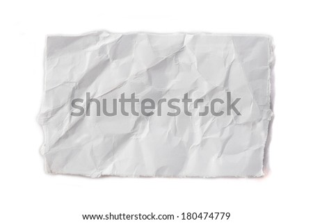 ripped pieces of paper on white background - stock photo
