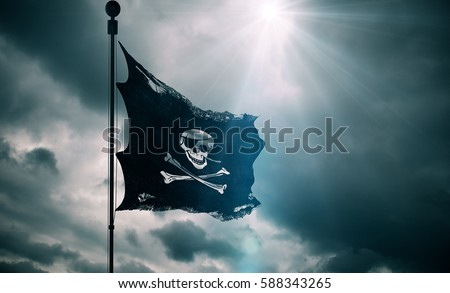 Calico Jack Flag Tattoo