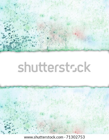 ripped watercolor paper - stock photo