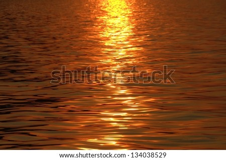 Ripple on water on Lake Malawi, Africa - stock photo