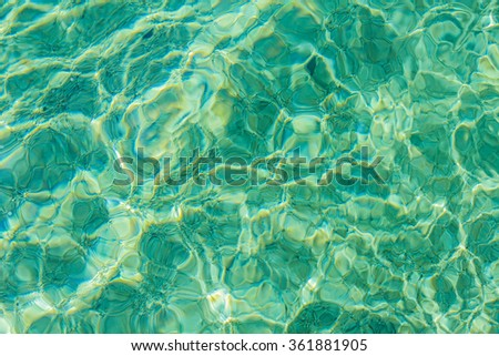 Ripple Water Wave, clear sea ,reflecting in the sun - stock photo