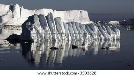 Rippled ice floe - stock photo