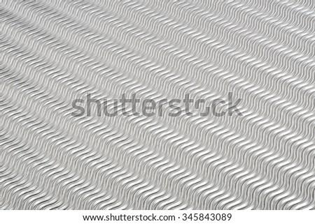 Rippled metallic sheet background - stock photo