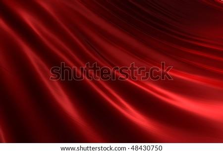 Rippled Red Silk II - stock photo