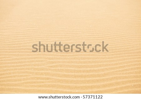 Rippled sand texture - stock photo