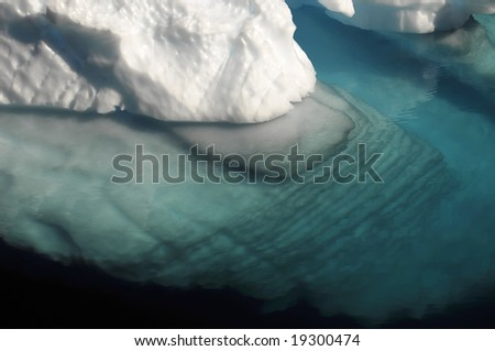 Rippled underwater ice - stock photo