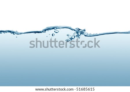 Rippled water surface - stock photo