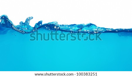 Rippled water wave isolated on white - stock photo